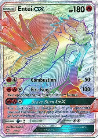 Buy Entei-GX - 74/73 - Hyper Rare and more Great Pokemon Products at 401 Games
