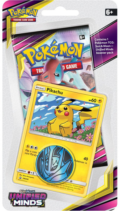 Buy Pokemon - Unified Minds Check Lane Blister Pack - Pikachu (Pre-Order July 29th, 2019) and more Great Pokemon Products at 401 Games
