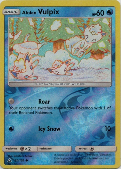 Buy Alolan Vulpix - 30/156 - Reverse Foil and more Great Pokemon Products at 401 Games