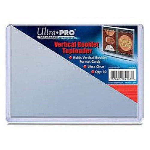 Buy Ultra Pro - Toploader 10ct - Vertical Booklet (139.7mm x 106.4mm) and more Great Sleeves & Supplies Products at 401 Games