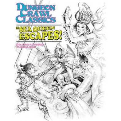 Dungeon Crawl Classics: The Sea Queen Escapes - Sketch Cover - 401 Games