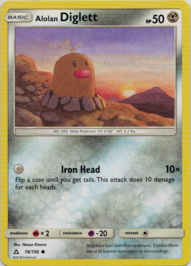 Buy Alolan Diglett - 78/156 and more Great Pokemon Products at 401 Games