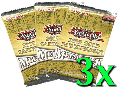 Yugioh - 2019 Gold Sarcophagus Tin Mega Pack (3 Pack Bundle) available at 401 Games Canada