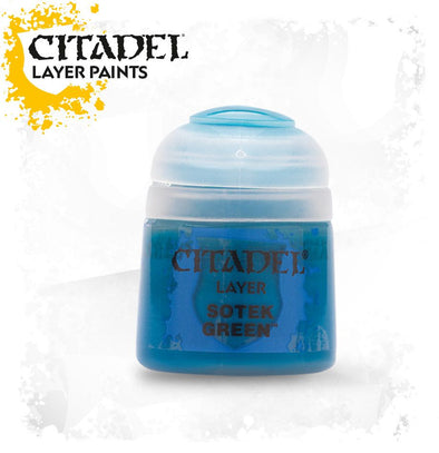 Buy Citadel Layer - Sotek Green and more Great Games Workshop Products at 401 Games