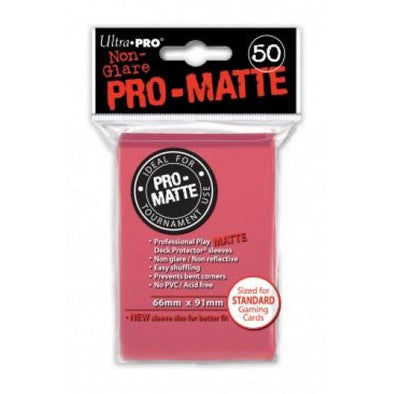 Buy Ultra Pro - Standard Card Sleeves 50ct - Pro-Matte - Fuchsia and more Great Sleeves & Supplies Products at 401 Games