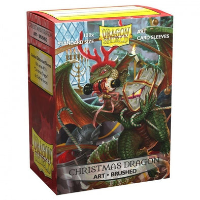 Dragon Shield - 100ct Standard Size - Brushed Art - Christmas Dragon available at 401 Games Canada