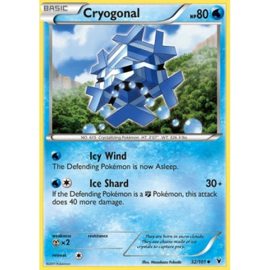 Buy Cryogonal - 32/101 and more Great Pokemon Products at 401 Games