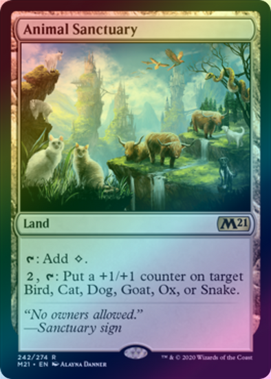 Animal Sanctuary (FOIL) (M21) (Pre-Order: 2020-07-03) - 401 Games
