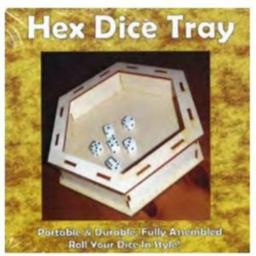 Dice Tray - Hex Dice Tray (Wooden) available at 401 Games Canada