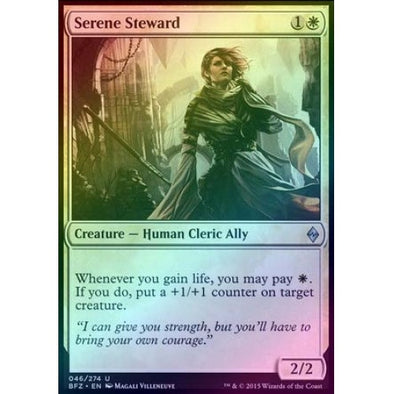 Serene Steward (Foil) (BFZ) available at 401 Games Canada