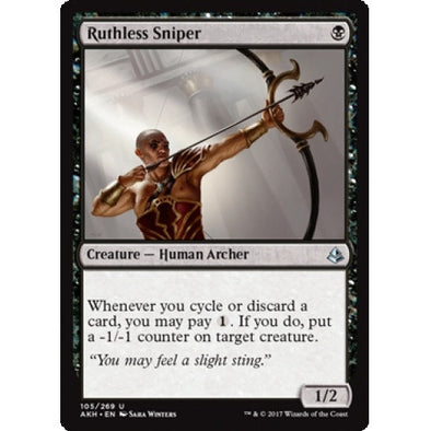 Ruthless Sniper (AKH) available at 401 Games Canada