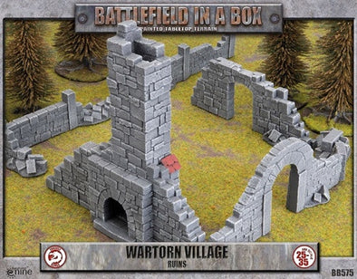 Battlefield in a Box - Wartorn Village - Ruins available at 401 Games Canada