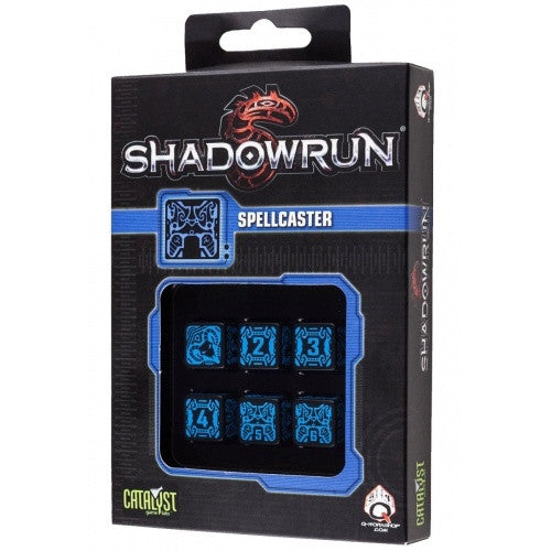 Dice Set - Q-Workshop - 6D6 - Shadowrun - Spellcaster - 401 Games