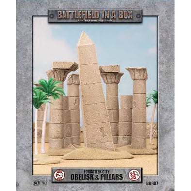 Battlefield in a Box - Forgotten City - Obelisk and Pillars available at 401 Games Canada