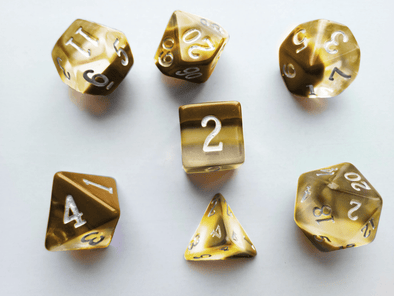 Little Dragon - Birthstone Dice - Citrine (November)