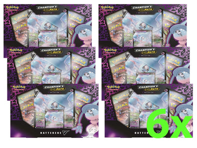 Pokemon - Champion's Path Hatterene V Collection - Case of 6 available at 401 Games Canada