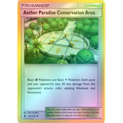 Buy Aether Paradise Conservation Area - 116/145 - Reverse Foil and more Great Pokemon Products at 401 Games