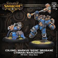 Buy Warmachine - Cygnar - Colonel Markus 'Siege' Brisbane and more Great Tabletop Wargames Products at 401 Games
