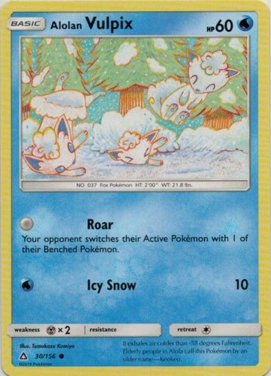 Buy Alolan Vulpix - 30/156 and more Great Pokemon Products at 401 Games