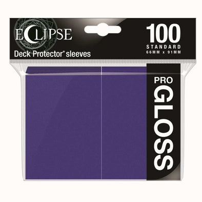 Ultra Pro - Gloss Eclipse - Standard Size - Royal Purple 100ct available at 401 Games Canada