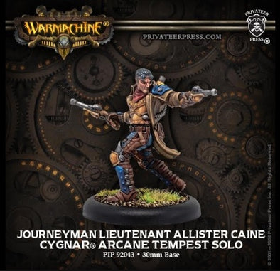 Buy Warmachine - Cygnar - Journeyman Lieutenant Allister Caine and more Great Tabletop Wargames Products at 401 Games