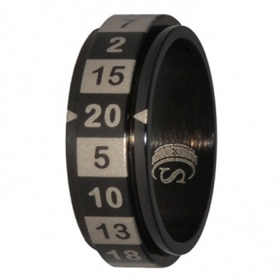 R20 Dice Ring - Size 10 - Black available at 401 Games Canada