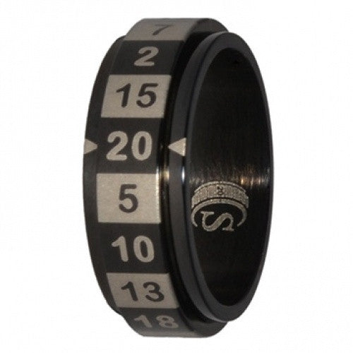 R20 Dice Ring - Size 10 - Black - 401 Games