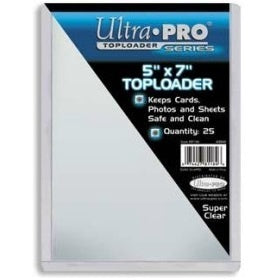 Buy Ultra Pro - Toploader 25ct - 5x7 (127mm x 177.8mm) and more Great Sleeves & Supplies Products at 401 Games