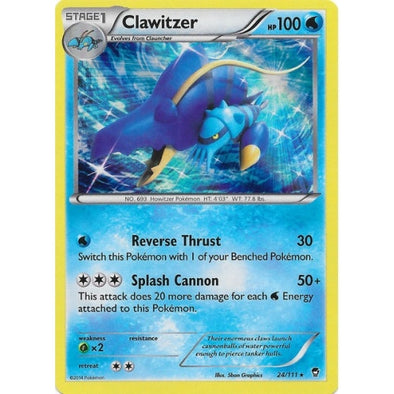 Buy Clawitzer - 24/111 and more Great Pokemon Products at 401 Games