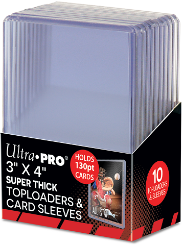 Ultra Pro - Toploader 10ct - 130pt with Sleeves - 401 Games