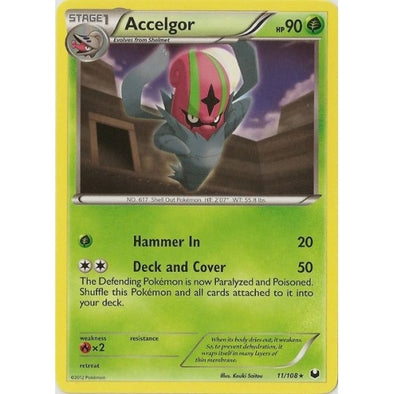 Buy Accelgor - 11/108 - Reverse Foil and more Great Pokemon Products at 401 Games