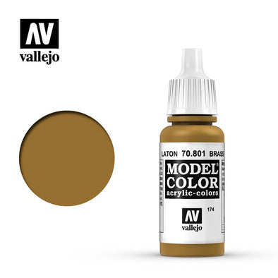 Buy Vallejo - Model Color - 174 - Brass and more Great Tabletop Wargames Products at 401 Games