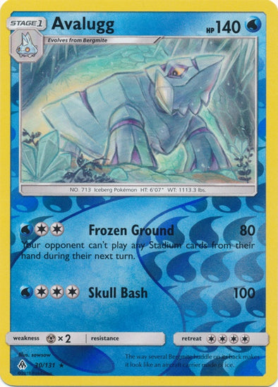 Buy Avalugg - 30/131 - Reverse Foil and more Great Pokemon Products at 401 Games