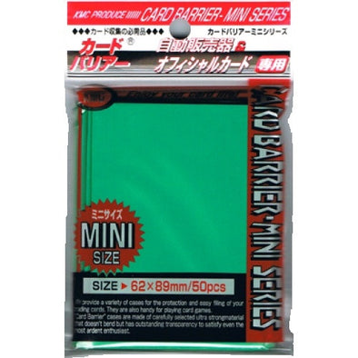 SUPL KMC Mini Card Barrier - 50ct Small Sleeves - Green - 401 Games