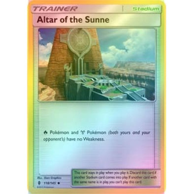 Altar of the Sunne - 118/145 - Reverse Foil - 401 Games