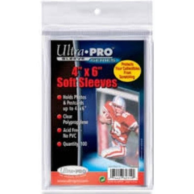 Buy Ultra Pro - Soft Sleeves 100ct - 4x6 and more Great Sleeves & Supplies Products at 401 Games