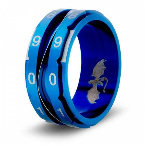 Level Counter Dice Ring - Size 10 - Blue