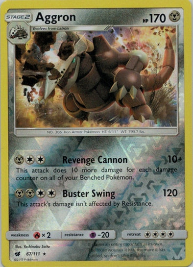 Buy Aggron - 67/111 - Reverse Foil and more Great Pokemon Products at 401 Games