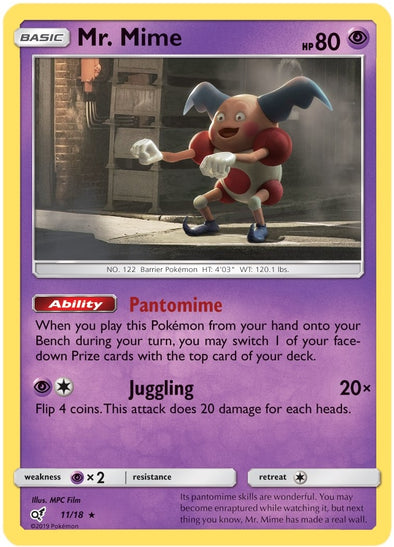 Buy Mr. Mime - 11/18 and more Great Pokemon Products at 401 Games