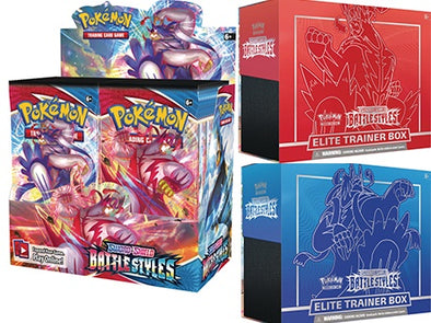 Pokemon - Battle Styles - Booster Box + Set of 2 Elite Trainer Box (Pre-Order March 19th, 2021) available at 401 Games Canada