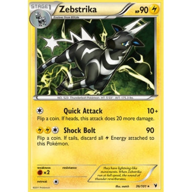 Buy Zebstrika - 36/101 - Reverse Foil and more Great Pokemon Products at 401 Games
