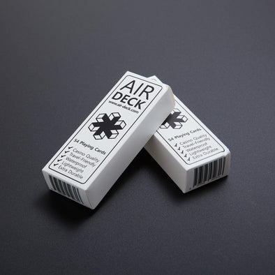 Air Deck - Travel Playing Cards - White