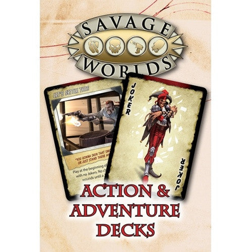 Savage Worlds - Action & Adventure Decks available at 401 Games Canada