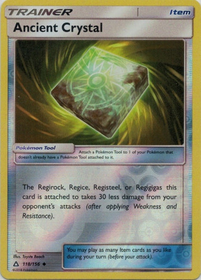 Buy Ancient Crystal - 118/156 - Reverse Foil and more Great Pokemon Products at 401 Games