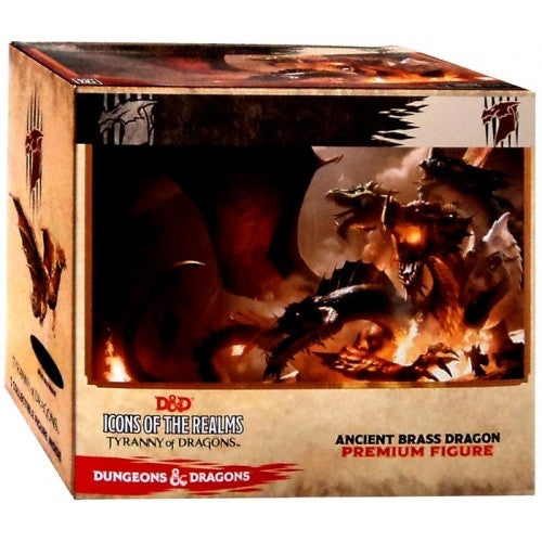 Dungeons and Dragons Minis - Icons of the Realm: Ancient Brass Dragon Premium Figure - 401 Games