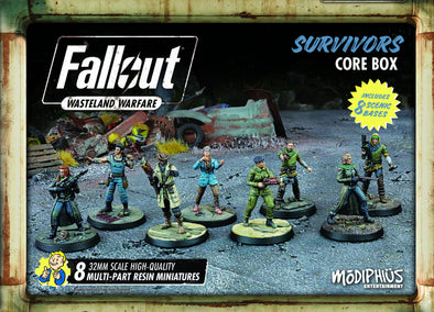 Buy Fallout - Wasteland Warfare - Survivors - Core Box and more Great Tabletop Wargames Products at 401 Games