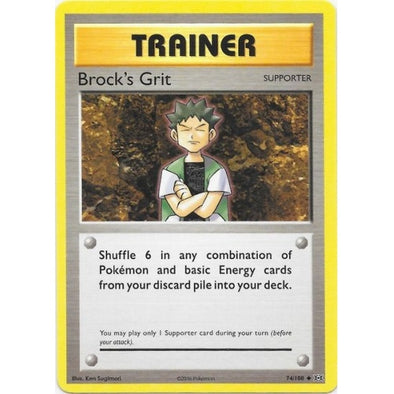 Buy Brock's Grit - 74/108 and more Great Pokemon Products at 401 Games