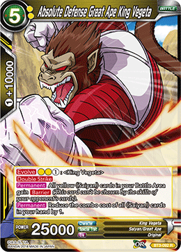 Absolute Defense Great Ape King Vegeta - (Rare) available at 401 Games Canada