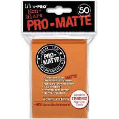 Buy Ultra Pro - Standard Card Sleeves 50ct - Pro-Matte - Orange and more Great Sleeves & Supplies Products at 401 Games