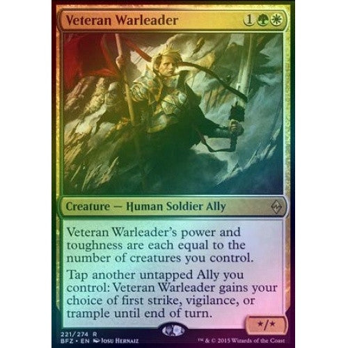 Veteran Warleader (Foil) (BFZ) available at 401 Games Canada